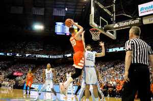 Syracuse's lone bright spot, Tyler Lydon, could not carry SU past the ninth-ranked Tar Heels on Monday night in Chapel Hill.