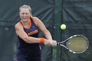 Gabriela Knutson won SU's lone point against Columbia on Sunday.
