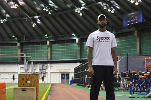 Freddie Crittenden has already collected both ACC hurdling championships, indoor and outdoor, but his eyes are set higher in last season at Syracuse.