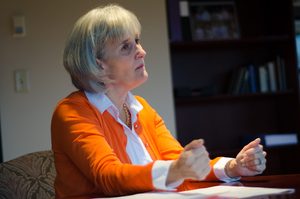 Syracuse University Vice Chancellor and Provost Michele Wheatly has been tasked to develop and implement a funding plan for the Academic Strategic Plan's programs and objectives.