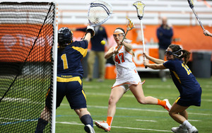 Riley Donahue scored four goals and added three assists in Syracuse's opening day win.