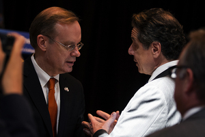 Syracuse University Chancellor Kent Syverud has indirectly helped push a merger between the Syracuse city and Onondaga County governments.