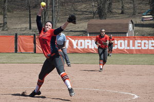 AnnaMarie Gatti threw seven innings while only giving up one run against St. John's.