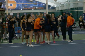 Syracuse rolled over New York state foe Buffalo on Saturday afternoon in Drumlins Country Club.
