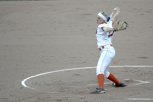 Syracuse senior two-way player Sydney O'Hara thrived on Saturday, in both the circle and at the plate. Her RBI triple to open the scoring in the first inning of game 2 proved to be enough for the Orange in the victory.