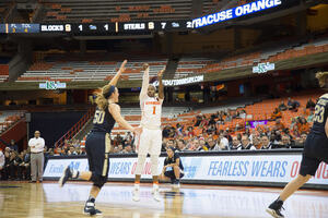 Alexis Peterson led the Orange in scoring in the final game of the year against Pittsburgh.