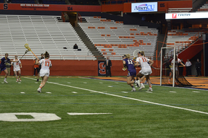 Riley Donahue scored the game-winning goal with just a few seconds to go in Syracuse's win.