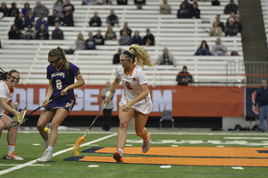 Morgan Widner has filled in and held her own in the shadow of two of the best SU players ever in the draw circle.