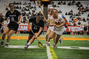 Syracuse kept possession and took care on defense to hold the Wildcats to just three goals.