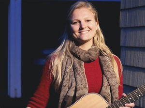 Julia Newman, a senior television, radio and film major, taught herself how to play the guitar and ukulele. Her music normally falls under the folk genre, but at times she also performs country and pop.