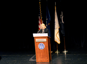 Onondaga County Executive Joanie Mahoney gives her State of Country address Tuesday night.