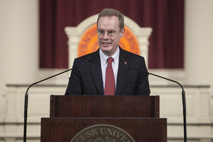 Kent Syverud spoke Wednesday about Donald Trump's new travel ban.