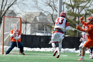 Evan Molloy made several stops down the stretch to pick up No. 6 Syracuse on Saturday.