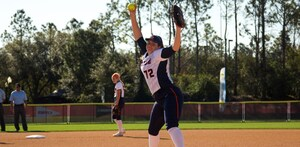 Junior right-hander AnnaMarie Gatti lasted only four and two-thirds innings after giving up seven runs.