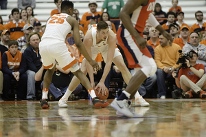 Tyler Lydon dropped 15 points against Mississippi on Saturday. He also grabbed 14 rebounds. It would be his final college game if the sophomore forward declares for the NBA Draft.