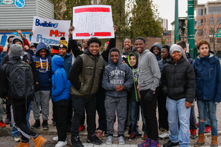 Those who participated included a group of students from H. W. Smith Middle School that call themselves the MOST Club, or Men of Strength.