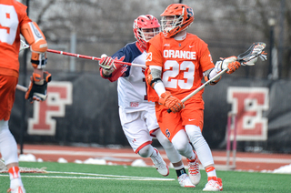Nick Mariano pivots on an SJU defender. He led the Orange in points.